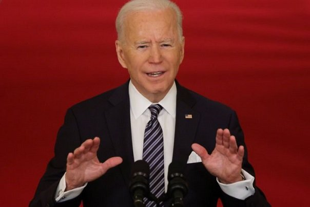 President Biden said in his remarks to the nation on Thursday evening marking the one-year anniversary of the start of the coronavirus pandemic